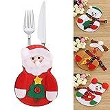 HENGSONG Weihnachten Tischdeko Bestecktasche Besteckbeutel Besteckhalter Tische Accessoires für Weihnachten Deko, 1 Stück / 3 Stück / 6 Stück (1 Stück, Weihnachtsmann)
