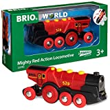 BRIO World 33592 Rote Lola elektrische Lok - Batterie-Lokomotive mit Licht & Sound - Kleinkinderspielzeug empfohlen ab 3 Jahren