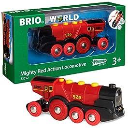 BRIO 33592 Grande Locomotiva Rossa a Batterie, BRIO Treni-Vagoni-Veicoli, Età Raccomandata 3+