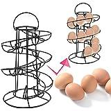 aytai huevo almacenamiento Holder Negro metal ahorrar hasta 20huevos Independiente dispensador de huevo accesorio de frutas cocina almacenamiento