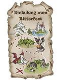 SUSY CARD Einladungskarten Kindergeburtstag Ritter Max