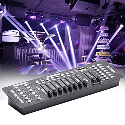 U'King 192 Channels DMX512 Controller Console 240 Scenes for Stage Lighting Party DJ Disco Operator Equipment.