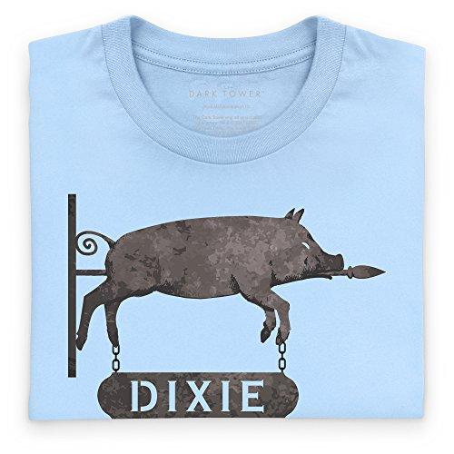 Official The Dark Tower Dixie Pig T-Shirt, Herren Himmelblau
