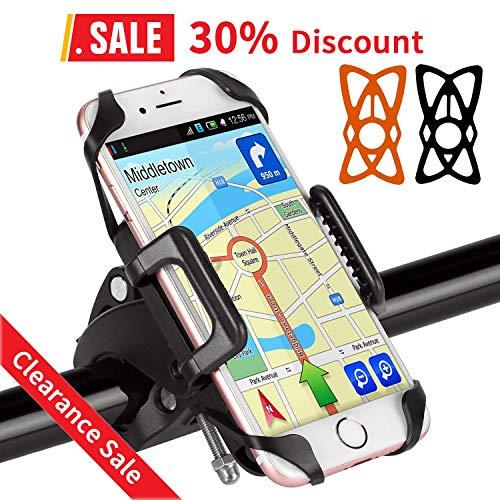 BIGO Soporte Móvil para Bicicleta Motocicleta Universal Apoyo 360 Rotación,con 2 Silicona...