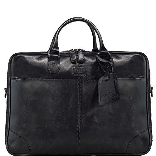 Bric's Life Pelle Aktenmappe Leder 41 cm Laptopfach black
