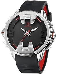 SHARK hombre Cuarzo relojes de pulseras silicona LED fecha día 24 horas Pantalla alarma SH556