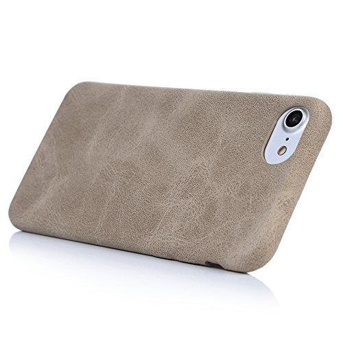 iPhone 7 Plus Hülle Case YOKIRIN Retro Streifen Hemming PU Leder Handyhülle Tasche Schutzhülle Flipcase Handy Schale Hardcase Bookcover Handytasche(Blondine) Blondine