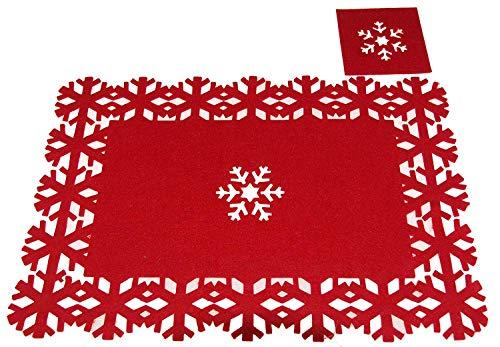 CHRISTMAS CONCEPTS Juego 8 manteles Posavasos navideños