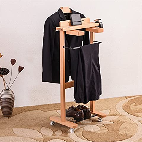 Cintre multifonction en bois massif haut de gamme Costumes en