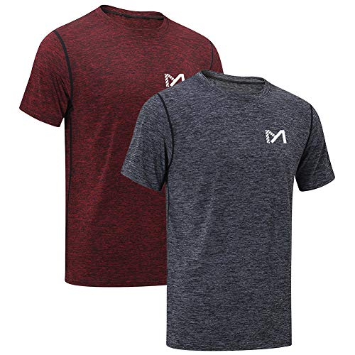 MEETYOO Sportshirt Herren, Laufshirt Kurzarm T Shirts Männer Fitnessshirt Atmungsaktiv Funktionsshirt für Running Jogging Fitness Gym -