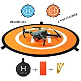 "RC Drone Landing Pad 30""/75cm Impact Protection Waterproof/Dirtproof Fast-Fold Portable Reversible Collapsible Helipad Launch Pad Drone Launch Mat for DJI Spark Mavic Pro Phantom 2/3/4/4 Pro Inspire 1 and Other Drones"
