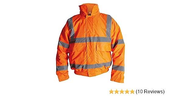 Orange or Yellow ProForce Class 3 High Visibility 300D Superior Hi-Vis Hi-Viz Bomber Jacket Coat