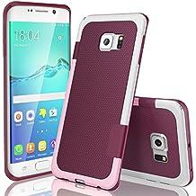 Funda Samsung Galaxy S6 Edge, HanLuckyStars, TPU Funda Carcasa para Galaxy S6 Edge, Carcasa Galaxy S6 Edge Funda con [Ultra Fina][Anti-Arañazos][Anti-Choques][Garantía de por vida](Vino Tinto)