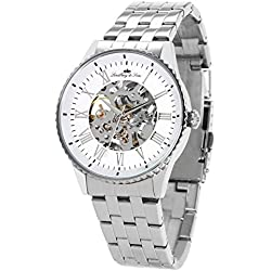 Lindberg&Sons - CHP157 - wrist watch for men - skeleton - automatic movement - analog display - stainless steel bracelet
