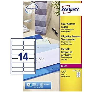 Avery DP010-100 Blanc 105 x 58 mm 1000 /Étiquettes copieur