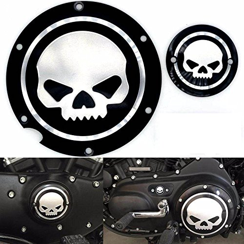 frenshion-motorcycle-noir-chrome-skull-timing-accessories-engine-derby-timer-couverture-for-harley-s