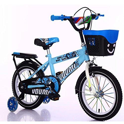 KinderFahrrad-Hellobridal Kinderfahrräder 12 14 16 Zoll Kinderrad sichere Freizeit und Urlaub! (Blau, 16 inches)
