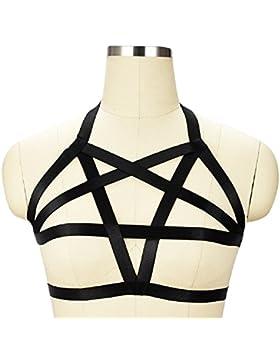 FuweiEncore Sujetador para Mujer Sexy Ladies Elastic Belt Charming Harness Sujetador para Sujetador