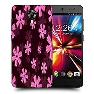 Snoogg Pink Floral Marron Pattern Printed Protective Phone Back Case Cover For Micromax Canvas Nitro 4G