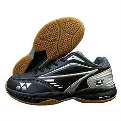 Yonex Badminton Shoes COURT ACE TOUGH (Black,Grey,Silver, UK 8)