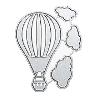 Amazingdeal365 Balloon und Wolken Metall Form Schablonen Schneiden DIY Dekor Sammelalbum Karten Buchzeichen Lesezeichen als Geschenk für Freunde Geburtstag Kinder,Kindergarten Hobby Schule Handarbeit Unterricht usw. Ein tolles Geschenk!
