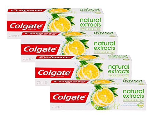 Colgate Naturals Extracts Limón Dentífrico - 4 Recipientes