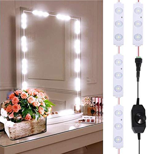 B-right LED Spiegelleuchte dimmbare Spiegellampe, Schminkleuchte, Make-up Licht Schmink Lampe, Schminktisch Leuchte, Spiegellicht Set für Kosmetikspiegel mit Dimmfunktion