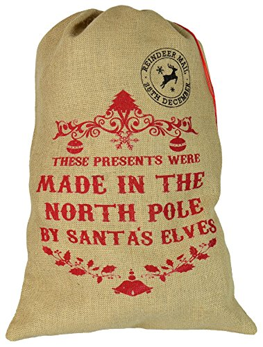 chtsgeschenkesack aus Sackleinen - These Presents were Made In The North Pole ()