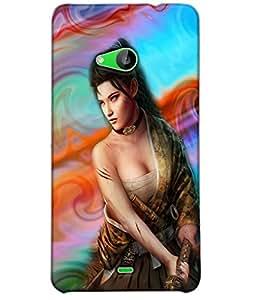 Fuson Cute Girl Back Case Cover for NOKIA MICROSOFT LUMIA 535 - D3701