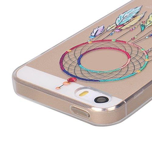 3 pezzi Morbida Cover Per iPhone 5 / 5S / SE, Asnlove Moda Soft TPU Silicone Custodia Trasparente Molle Caso Motif di Colore Cassa Ultra Sottile Case Bumper Per iPhone 5/5S/SE, Gruppo-2 Gruppo-2