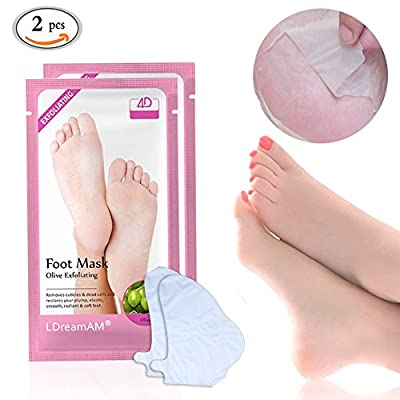Foot Mask,Foot Mask Sock,Exfoliating Foot Peel Mask,Peel Off Foot Mask,Exfoliating Socks,Sock type Foot Exfoliating Mask Exfoliating Calluses and Dead Skin Remover Restores your plump,Elastic,Smooth,Radiant and Soft Feet,2 Pairs