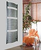 Badheizkörper Design Mannheim 3, HxB: 177 x 60 cm, 1471 Watt, Edelstahloptik (Marke: Szagato) Made in Germany / Top-verarbeiteter Bad und Wohnraum-Heizkörper (Seitenanschluss)