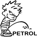 #7: Indiashopers Boy Petrol Sides, Windows Car Sticker (Black)