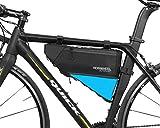 VertAst, borsa a triangolo impermeabile da montare al telaio della bicicletta, 4 l, per mountain bike o bici da strada, nera