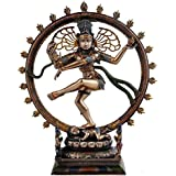 [Sponsored]Collectible India Nataraja Shiva Idol Sculpture Handmade Antique Dancing Nataraj Pratima Statue Home Decor Figurine