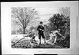 La Stampa Antica degli Alberi dell'Aratro del Ragazzo del Signore della Pistola di Rabbiting Garantisce le Culatte 1877