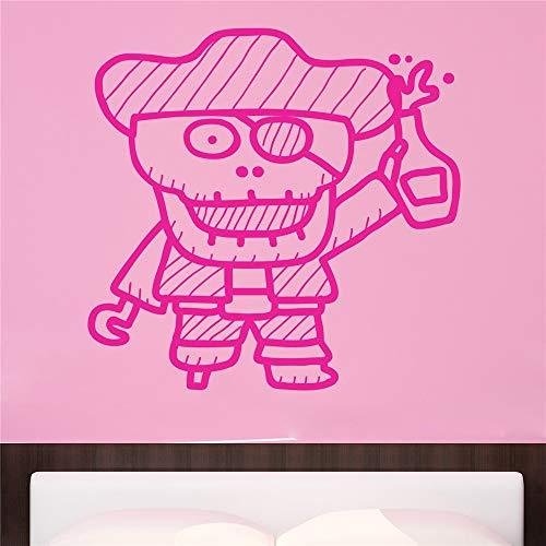 stickers muraux papillon Skeleton Pirate pour chambre d'enfants