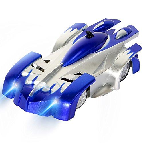 SGILE 4CH RC Coche Trepador Coche Teledirigido Escalar la Pared Coche de juguete de carrera Azul