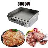 Iglobalbuy elektrische Grillplatte Gerät Bratplatte Griddleplatte Gastronomie (3000W)