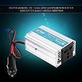 GOTOTOP 200W/300W/1000W/2000W Convertisseur Voiture DC 12V en AC 220V Ventilateur Intégré avec Cable d'Allume-Cigarette et 1 Port USB (300W)