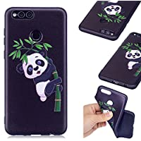 Huawei Honor 7X Case, BONROY® Huawei Honor 7X Fashion colorful pattern Case Bumper Transparent Soft Gel Shockproof Case Resist Protection Shell for Huawei Honor 7X