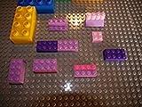 Katara 1672 - Bauplatte 2er Set 40cm x 40cm/50 x 50 Pins, Kompatibel Lego, Sluban, Papimax, Q-Bricks, Grün