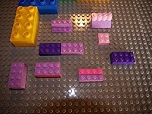 Katara 1672 - Bauplatte 2er Set 40cm x 40cm/50 x 50 Pins, Kompatibel Lego, Sluban, Papimax, Q-Bricks, Blau