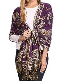Sakkas Liua Lange breite Woven Patterned Entwurf Bunt Pashmina-Schal / Schal
