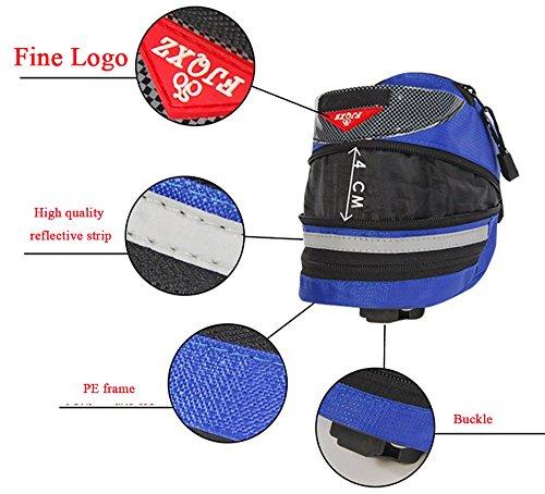 vitalite-outdoor Cycling Mountain Fahrrad Satteltasche Back Seat Pack Aufbewahrungstasche Blau