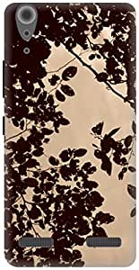 The Racoon Grip leafy hard plastic printed back case / cover for Lenovo A6000 Plus