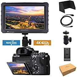 Negro Lilliput A7S 7 pulgadas 1920x1200 IPS Screen Camera Field Monitor 4K HDMI Input output Video For DSLR Mirrorless Cámara SONY A7 A7R A7S II A6500 Panasonic GH5 Canon 5D Mark IV 7D 70D 80D NIKON DJI Ronin M
