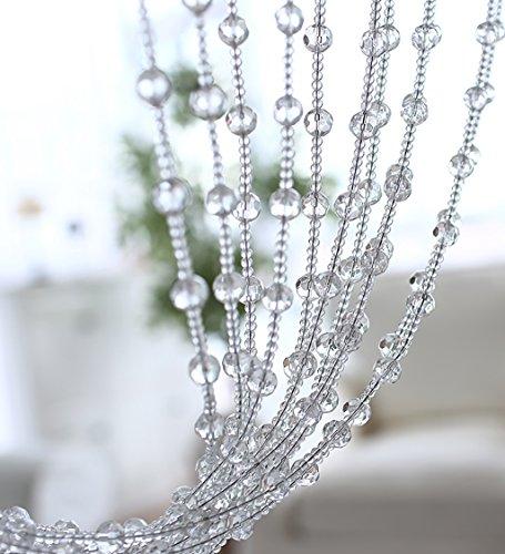 rlen Tür Vorhang DIY Home Schlafzimmer Weihnachten Hochzeit Party Club Store Feier ( Farbe : W 150cm , größe : L 120cm ) (Diy Perlen-tür-vorhänge)