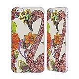 Head Case Designs Ufficiale Valentina Puzzle Fenicottero Uccelli Argento Cover Contorno con Bumper in Alluminio per iPhone 6 Plus/iPhone 6s Plus