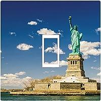 Smarts-Art Vinilo adhesivo decorativo para interruptor, diseño de la Estatua de la Libertad, impresión de alta definición